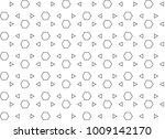 seamless geometric ornamental... | Shutterstock .eps vector #1009142170