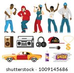 rap music singers with... | Shutterstock .eps vector #1009145686