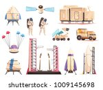 space research technology... | Shutterstock .eps vector #1009145698