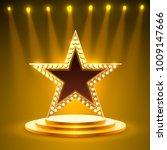 award podium star gold  golden... | Shutterstock .eps vector #1009147666
