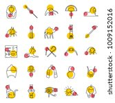 Egypt Outline Icons Set. Vector ...