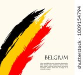 Belgium Flag  Brush Stroke...