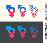 gender symbol vector icons.... | Shutterstock .eps vector #1009154800