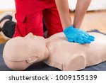 first aid training  ... | Shutterstock . vector #1009155139
