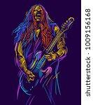 musician with a guitar. rock... | Shutterstock .eps vector #1009156168