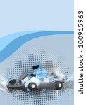 gocart background  poster  web  ... | Shutterstock . vector #100915963