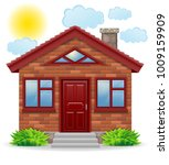 small country house vector... | Shutterstock .eps vector #1009159909