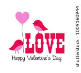 cute valentine lovebirds vector ... | Shutterstock .eps vector #1009160944