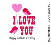 valentine vector graphic with... | Shutterstock .eps vector #1009160950