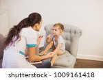 the young doctor sitting on a...   Shutterstock . vector #1009161418