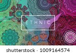 ethnic banners template with... | Shutterstock .eps vector #1009164574
