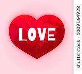 valentine's day romantic... | Shutterstock .eps vector #1009164928
