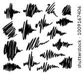 scribble brush strokes set ... | Shutterstock .eps vector #1009167406