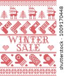 seamless winter sale... | Shutterstock .eps vector #1009170448