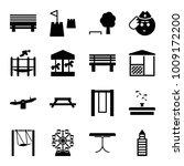 park icons. set of 16 editable... | Shutterstock .eps vector #1009172200