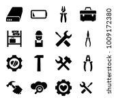 maintenance icons. set of 16... | Shutterstock .eps vector #1009172380