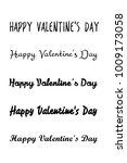 happy valentines day card.... | Shutterstock .eps vector #1009173058