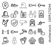 security icons. set of 25... | Shutterstock .eps vector #1009173244