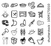 dinner icons. set of 25... | Shutterstock .eps vector #1009173310