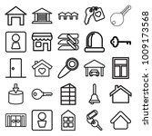 door icons. set of 25 editable... | Shutterstock .eps vector #1009173568