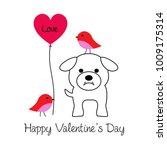 cute bulldog and birds... | Shutterstock .eps vector #1009175314