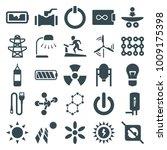 energy icons. set of 25... | Shutterstock .eps vector #1009175398