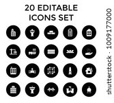architecture icons. set of 20... | Shutterstock .eps vector #1009177000