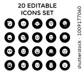 emotion icons set of 20