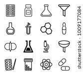 chemistry icons. set of 16... | Shutterstock .eps vector #1009177084
