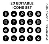 mirror icons. set of 20... | Shutterstock .eps vector #1009177090