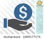 dollar coin payment hand... | Shutterstock .eps vector #1009177174