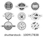 set of vintage label collection ... | Shutterstock .eps vector #100917838