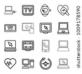 monitor icons. set of 16... | Shutterstock .eps vector #1009178590