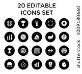 competition icons. set of 20... | Shutterstock .eps vector #1009180660