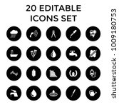 drop icons. set of 20 editable... | Shutterstock .eps vector #1009180753