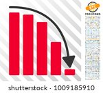 falling acceleration chart icon ... | Shutterstock .eps vector #1009185910