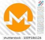monero icon with 700 bonus... | Shutterstock .eps vector #1009186126