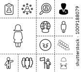 user icons. set of 13 editable...   Shutterstock .eps vector #1009188079