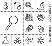 research icons. set of 13... | Shutterstock .eps vector #1009188184