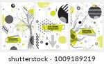 trendy memphis eco style... | Shutterstock .eps vector #1009189219