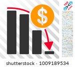 bitcoin falling acceleration... | Shutterstock .eps vector #1009189534
