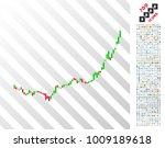 candlestick graph growth... | Shutterstock .eps vector #1009189618