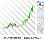 candlestick chart growth... | Shutterstock .eps vector #1009189624