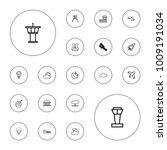 editable vector sky icons ... | Shutterstock .eps vector #1009191034