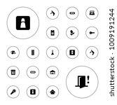 editable vector door icons ... | Shutterstock .eps vector #1009191244