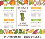 vintage vegetarian food menu... | Shutterstock .eps vector #1009191658