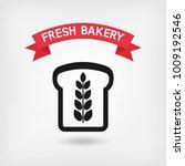 bread bakery symbol. vector... | Shutterstock .eps vector #1009192546