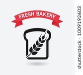 bread bakery symbol. vector... | Shutterstock .eps vector #1009192603