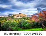 acropolis with parthenon. view...   Shutterstock . vector #1009195810