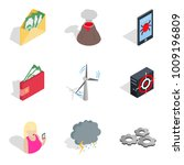 penetration icons set.... | Shutterstock .eps vector #1009196809